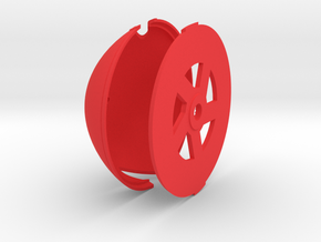 Albatros DVa Spinner - 4.5 in diameter in Red Processed Versatile Plastic