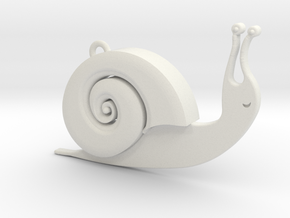 Snaily in White Natural Versatile Plastic