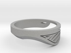 Modern Single Leaf Ring in Aluminum
