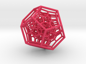 Large 120-Cell in Pink Strong & Flexible Polished