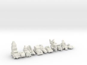 WACKY RACERS 285 scale in White Natural Versatile Plastic