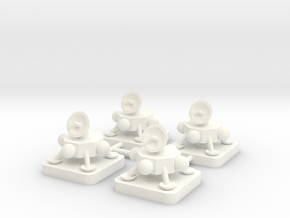 Mini Space Program, Lander Probe, 4-set in White Processed Versatile Plastic
