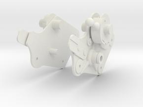 Apollo LM Control Arm Connectors 1:2 in White Natural Versatile Plastic