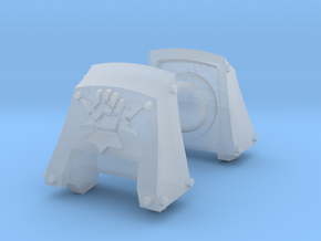 Fist on Thunderbolt Count Dreadnought pads #1 in Smooth Fine Detail Plastic