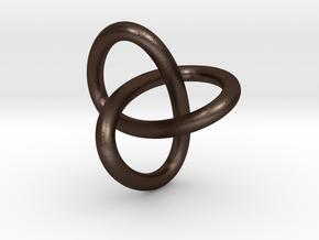 Classic Trefoil Knot 30mm in Matte Bronze Steel