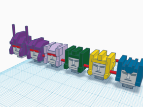 Heads for Terrorcon Kreons (Set 2 of 2) in Smooth Fine Detail Plastic