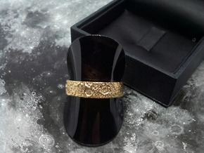 Moon Ring in 18k Gold Plated Brass: 5 / 49