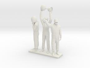1/32 180cm Three Racing Drivers in White Natural Versatile Plastic