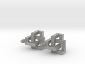 Cubic Knot Earrings in Metallic Plastic