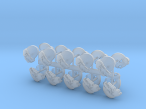 Space Vikings 5th company shoulder pad icons x20 R in Smooth Fine Detail Plastic