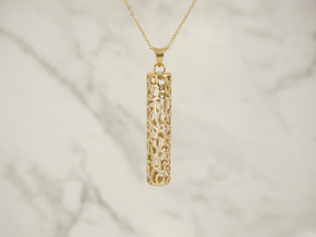 Cellular Pendant in Polished Bronze (Interlocking Parts)