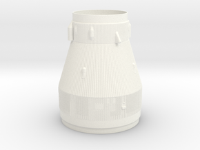 1:125 Saturn V 2nd to 3rd stage transition in White Processed Versatile Plastic