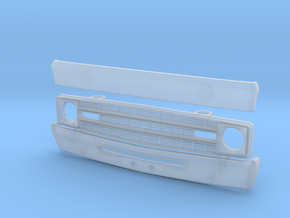 063003-01 Dodge Van Front End and Rear Bumper in Smooth Fine Detail Plastic