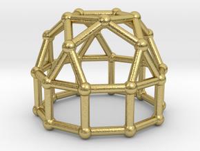 0777 J21 Elongated Pentagonal Cupola (a=1cm) #2 in Natural Brass