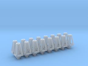 Jack Stands 16 pack 1-87 Scale in Smooth Fine Detail Plastic