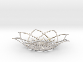 Lotus Tealight Holder in Rhodium Plated Brass