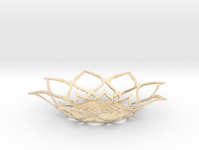 Lotus Tealight Holder in 14k Gold Plated Brass