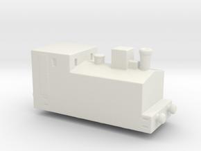 alvf ww1 armoured loco steam 1/285 6mm in White Natural Versatile Plastic