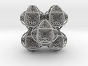 Flower of Life Stack 7 in Aluminum