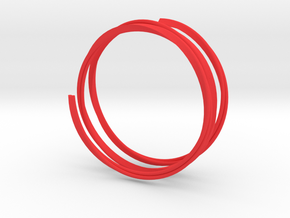 Twisted Love Bracelet - Size D75 in Red Processed Versatile Plastic