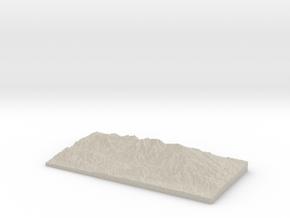 Model of Heaton Flat Trail in Natural Sandstone