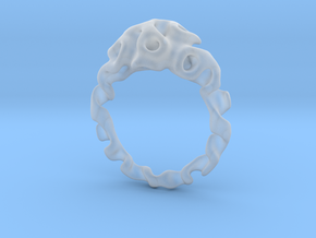 Gyroidring  in Smooth Fine Detail Plastic