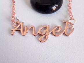 Angel Pendant  in 14k Rose Gold Plated Brass