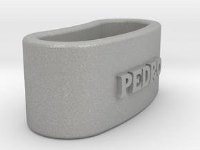 PEDRO 3D Napkin Ring with lauburu in Aluminum