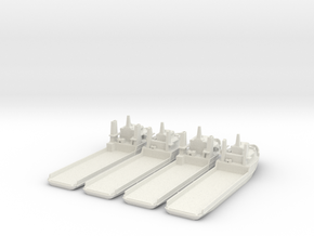 Oil Rig Support ships in White Natural Versatile Plastic: 1:700