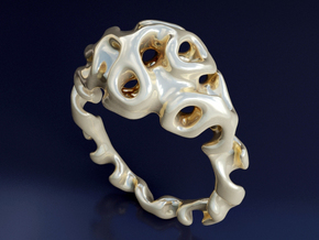 Gyroidring  in 14K Yellow Gold