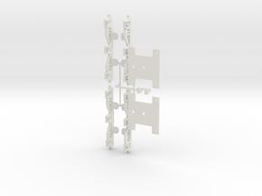 General Steel Industries Three Axle Trucks  in White Natural Versatile Plastic: 1:64 - S