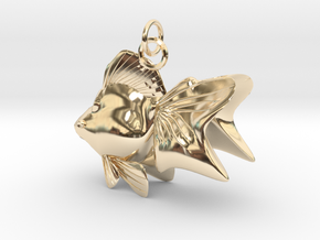 GOLD FISH in 14k Gold Plated Brass