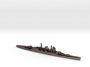 IJN Mogami cruiser 1940 1:1800 WW2 in Polished Bronzed-Silver Steel