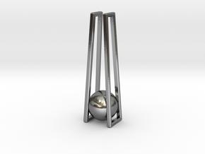 Geometric Pendant: Minimalist Design in Polished Silver