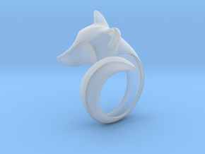 Stylish decorative fox ring in Smooth Fine Detail Plastic