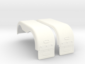 1/24 scale Rear Fender cover Part short type 1 in White Processed Versatile Plastic
