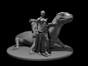 Woman with Lizard Mount in Smooth Fine Detail Plastic