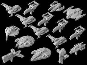 (Armada) Outer Rim Full Player Ship Set in Smooth Fine Detail Plastic