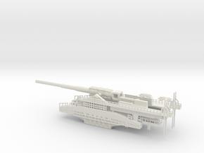 schwerer gustav 80cm railway artillery 1/160  in White Natural Versatile Plastic