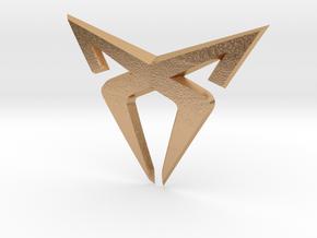 "Leon Cupra Bootlatch ""S"" Badge - Logo Part in Natural Bronze"