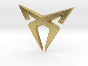 "Leon Cupra Bootlatch ""S"" Badge - Logo Part in Natural Brass"