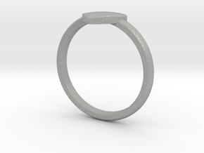 Simple heart ring  in Aluminum