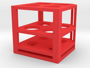Buffer Cartridge in Red Processed Versatile Plastic