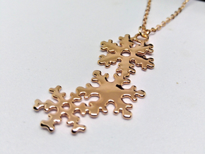 Snowflakes Pendant in 14k Rose Gold Plated Brass