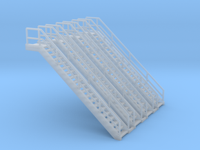 'N Scale' - 4-pack of Stairs in Smooth Fine Detail Plastic
