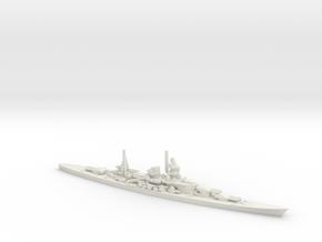 German Scharnhorst-Class Battleship in White Natural Versatile Plastic