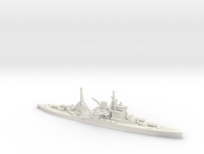 British Queen Elizabeth-Class Battleship in White Natural Versatile Plastic: 1:1800