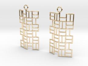 Tatami Earrings in 14K Yellow Gold