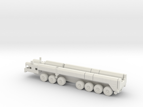 1/100 Scale Russian SS-25 RT-2PM Missile Launch Ve in White Natural Versatile Plastic