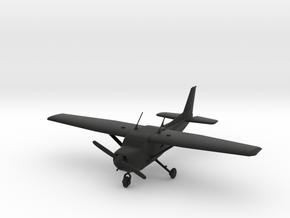 Cessna C172 Skyhawk in Black Natural Versatile Plastic: 1:56